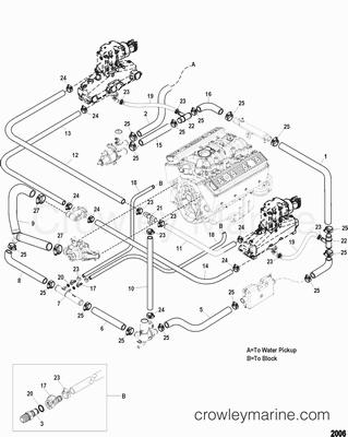 2012 Mercury Inboard Engine 350 MAG [BLK SCORP] [33500604U