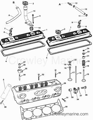 1995 Mercury Inboard Engine 350 MAG [EFI/MP] [357J111HS