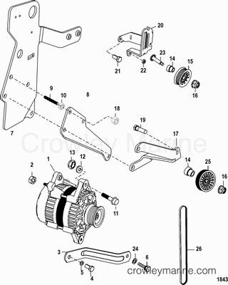 1998 Mercury Inboard Engine 350 MAG [MPI SKI] [33500342S