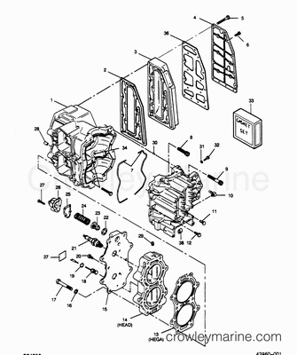 Force 50 Outboard Lower Unit 1989 Diagram