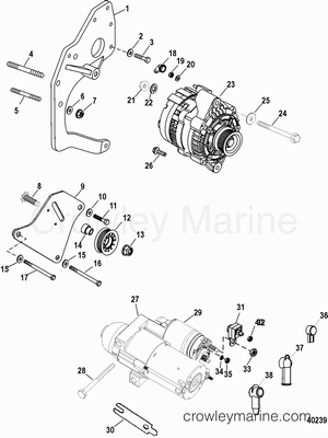 2009 Mercruiser Race Sterndrive 525 EFI [BRAVO] [4WH2225XH