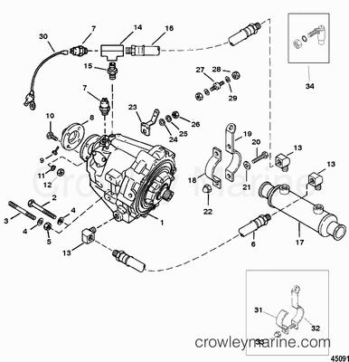 1994 Mercury Inboard Engine 5.7L TBI [350MAG.SKI