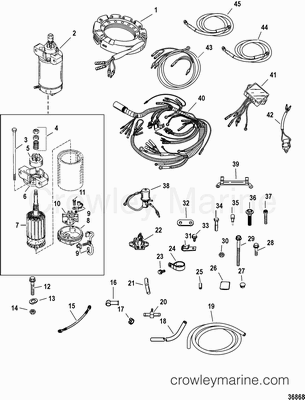 Mercury Remote Key Switch Harness Mercury Outboard Engine