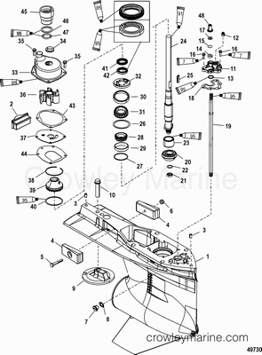 85 Hp Mercury Outboard Lower Unit Parts Diagram Wiring