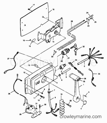 Diagram Of 1972 100esl72r Johnson Outboard Gearcase Diagram And