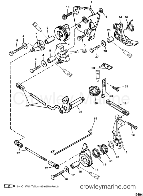 small resolution of throttle and shift linkage tiller handle shift 1994 mariner rh crowleymarine com 3 7 mercruiser shift cable routing mercruiser alpha one shift cable