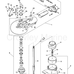 Jet Pump Diagram Wiring For 7 Pin Flat Trailer Connector Assembly 1989 Mariner Outboard 40 Elhpto