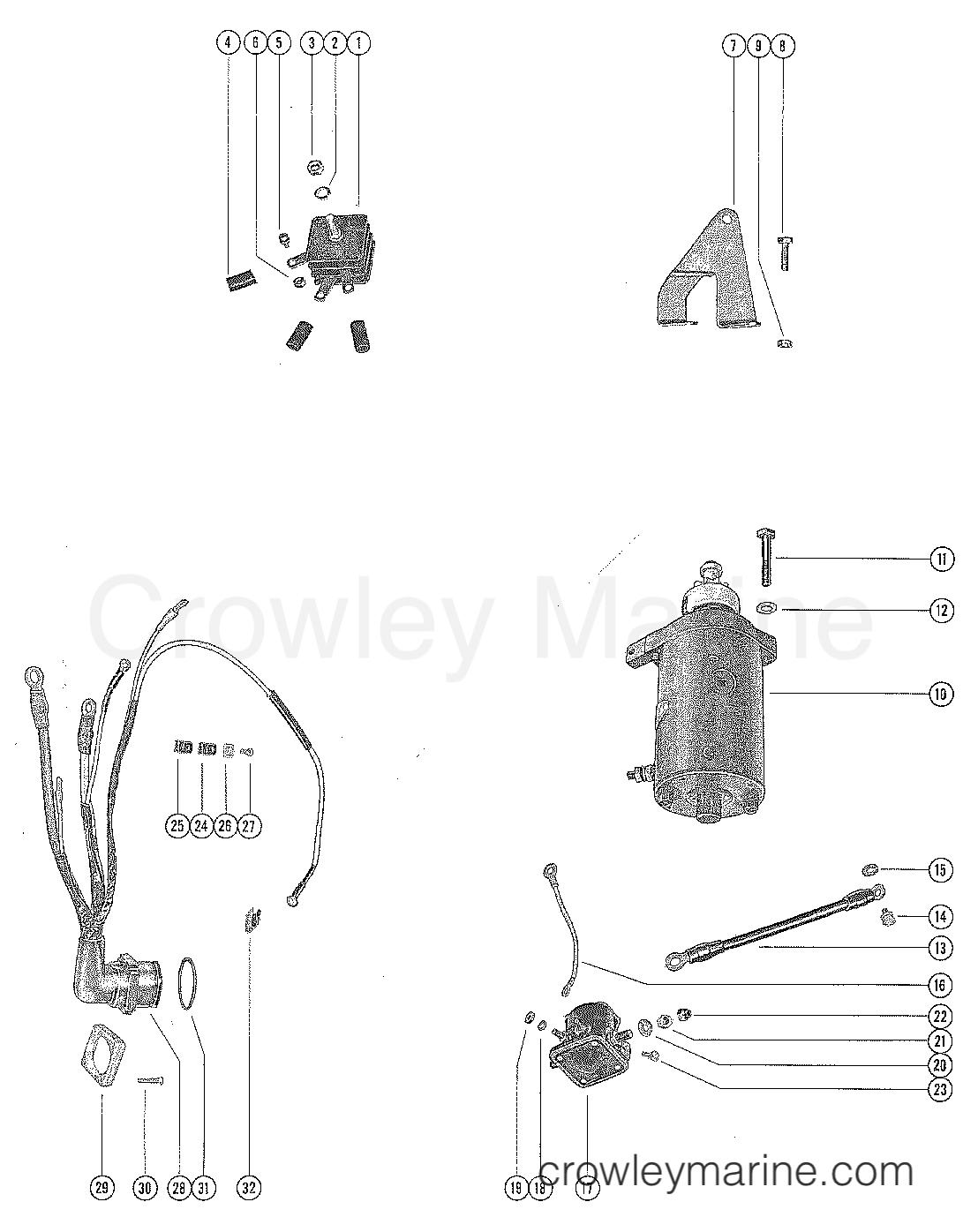 Mercury Starter Wiring Fleetwood Rv Battery Wiring Diagram