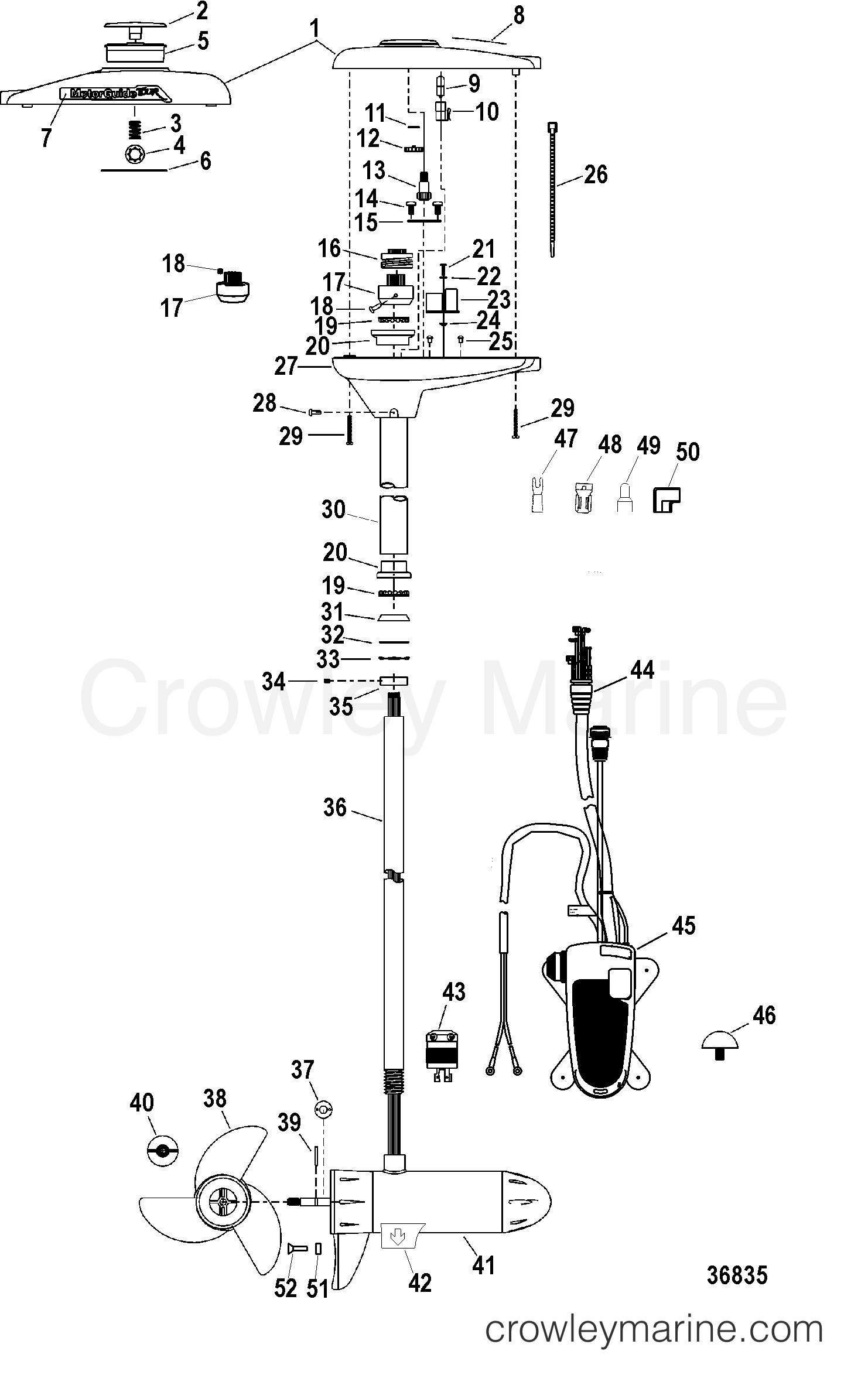 COMPLETE TROLLING MOTOR(TR82PFB / TR82PFBD) (24 VOLT