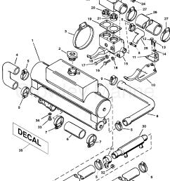 1994 mercruiser 4 2ld bravo 442b110gd heat exchanger and hoses section [ 1892 x 2451 Pixel ]