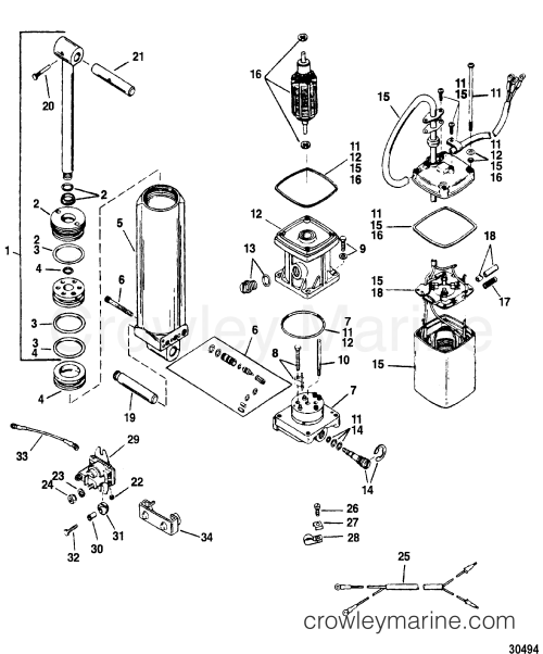 small resolution of mercury power trim pump diagram images gallery