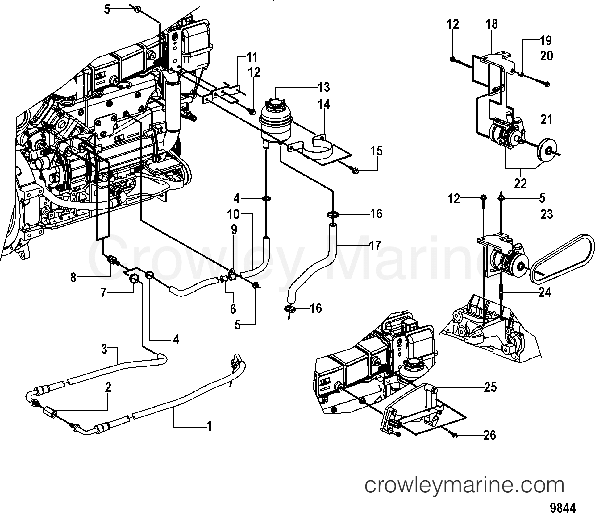 Power Steering And Shift Bracket
