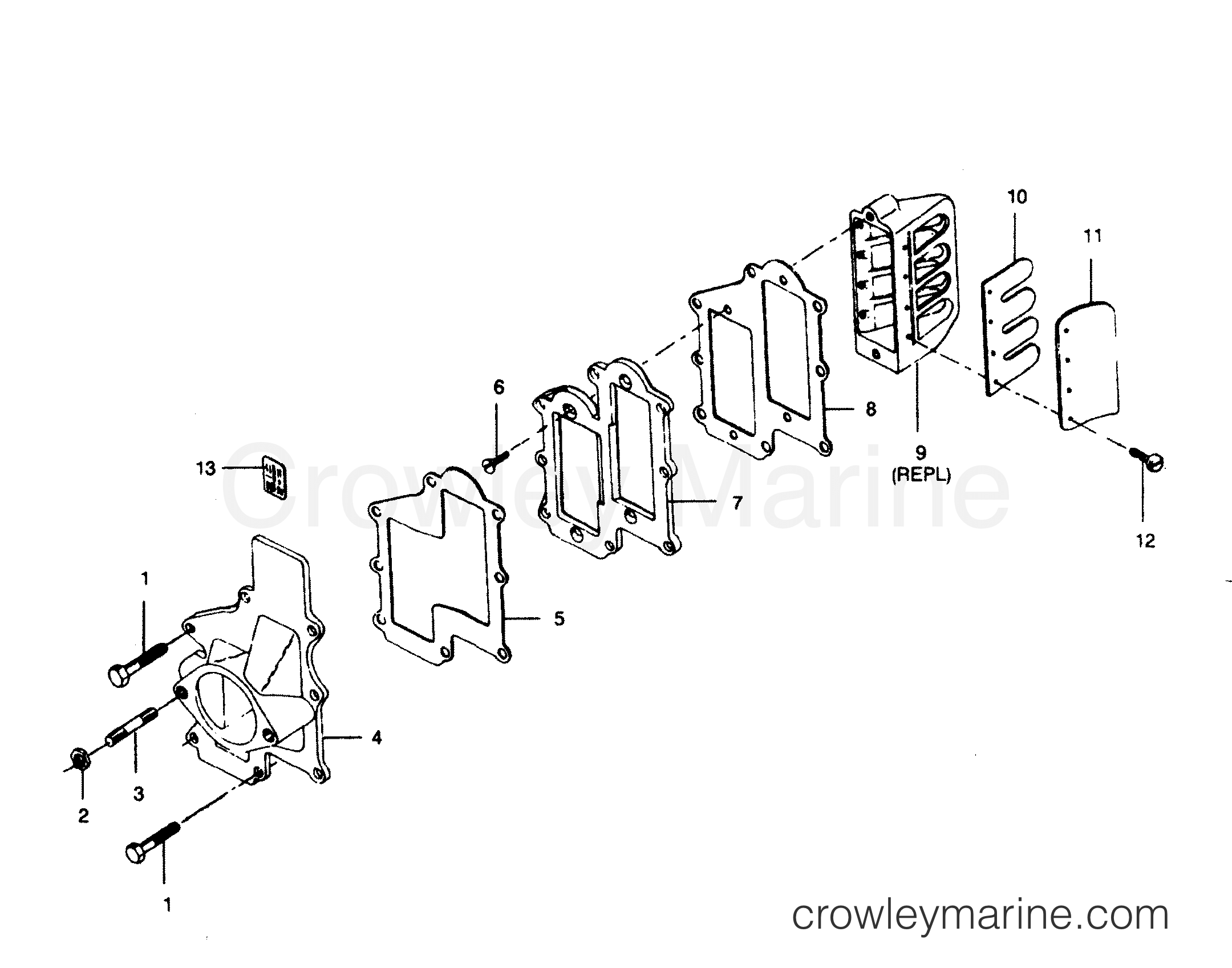 Reed Plate And Adapter Flange