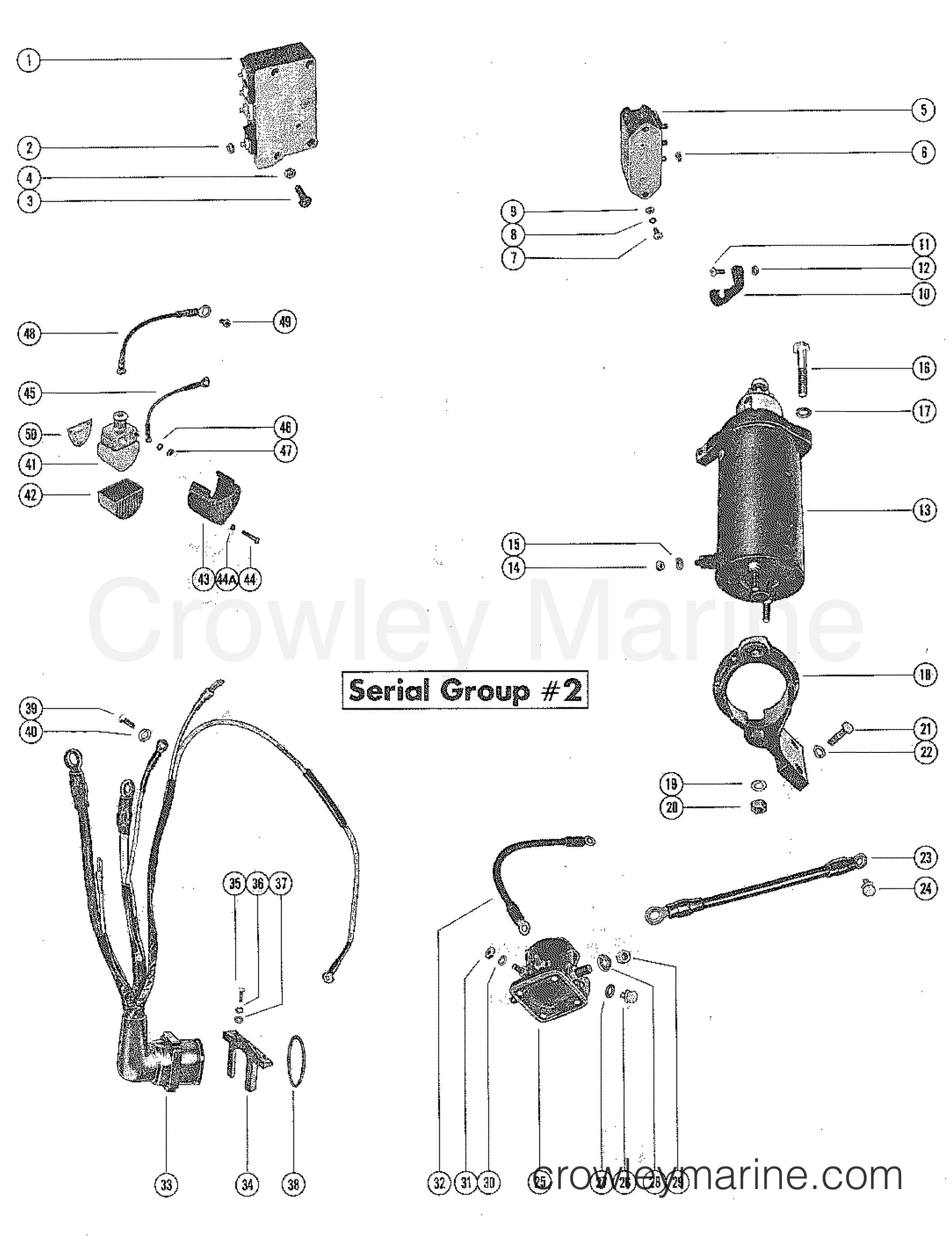 Starter Motor And Wiring Harness Serial Group 2
