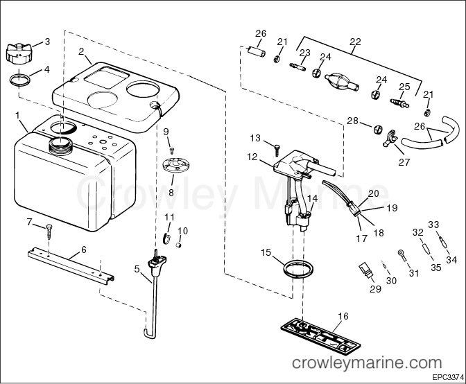 evinrude 115 ficht wiring diagram how a neti pot works remote oil tank kit crowley marine 1 8 gallon