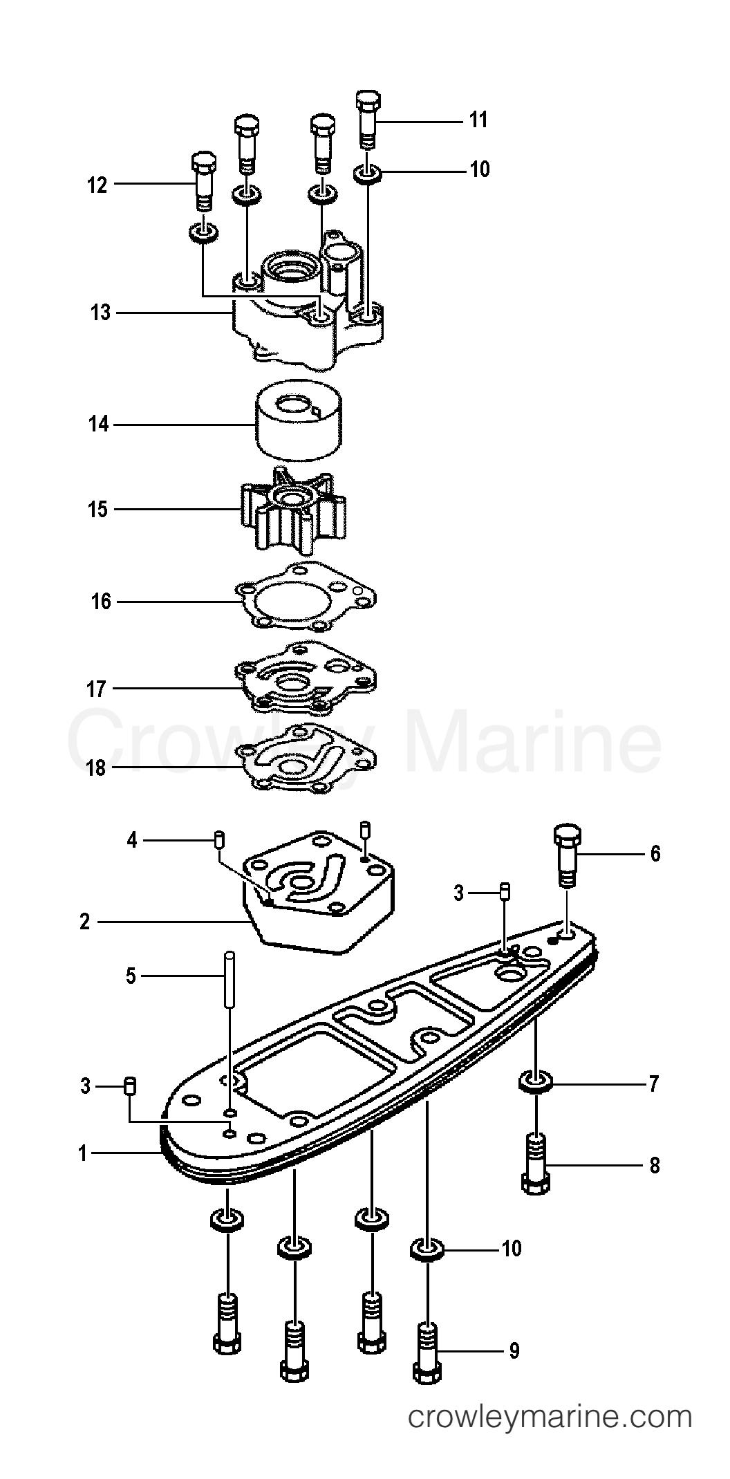 Water Pump Adapter F90