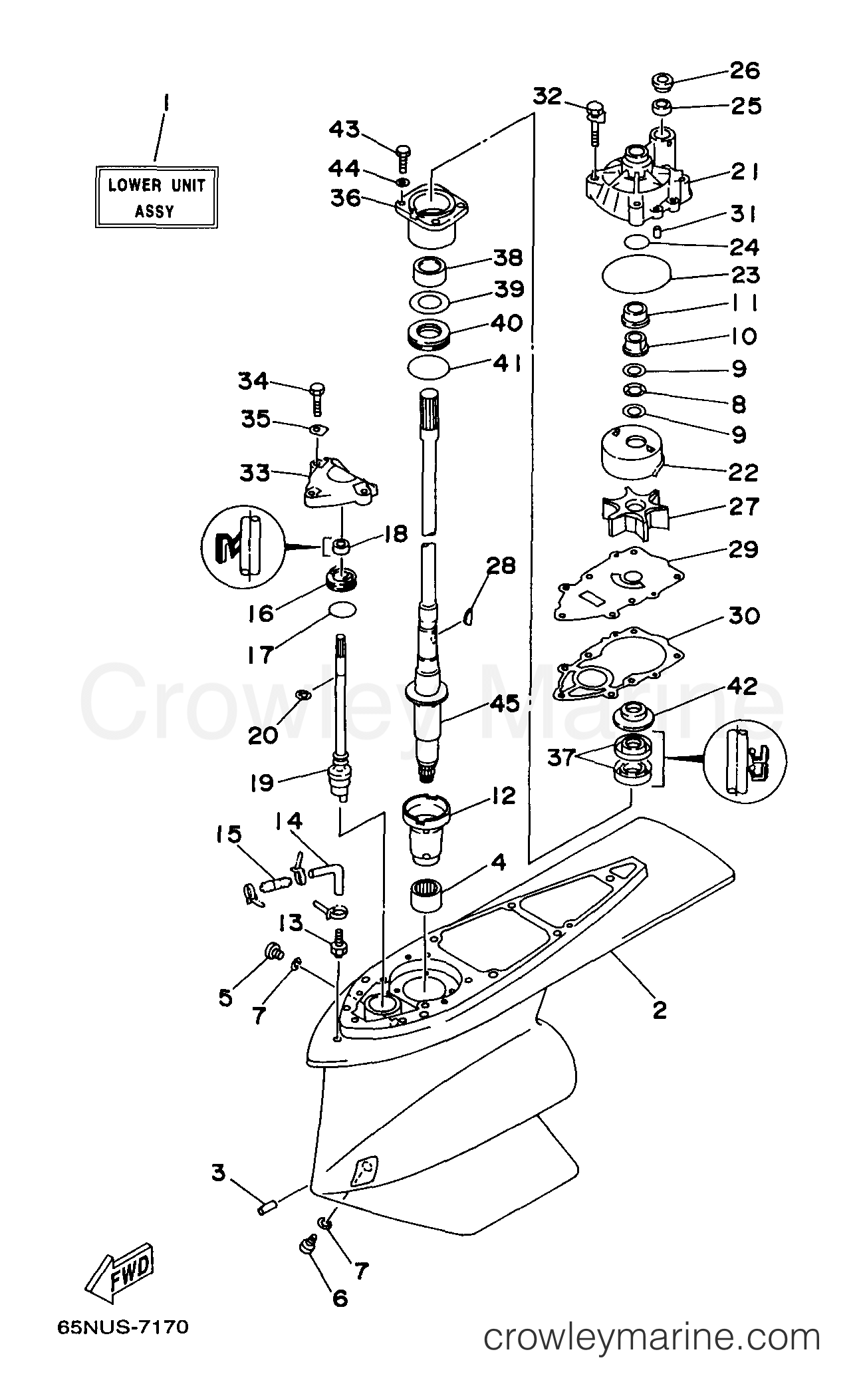 Outboard Lower Unit Diagram
