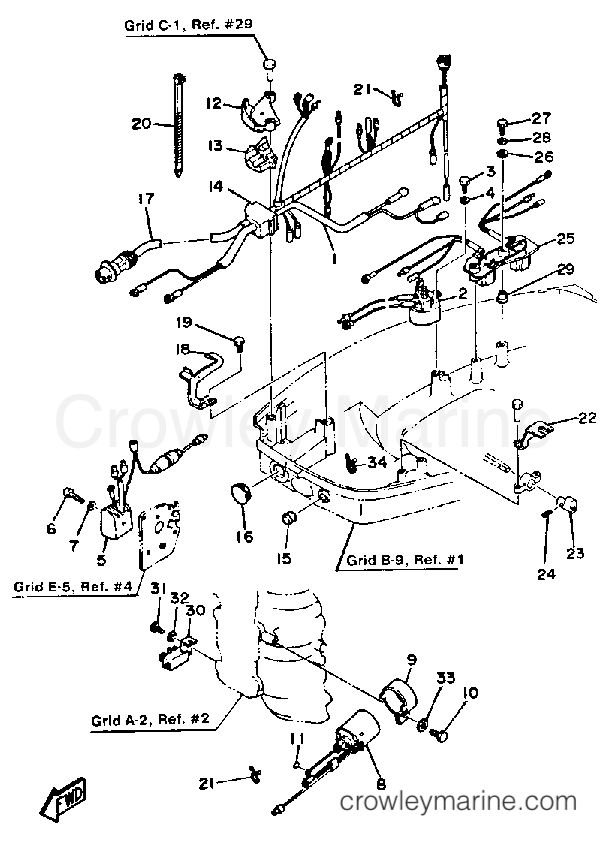 Evinrude Outboard Parts By Year 1986 Oem Parts Diagram For