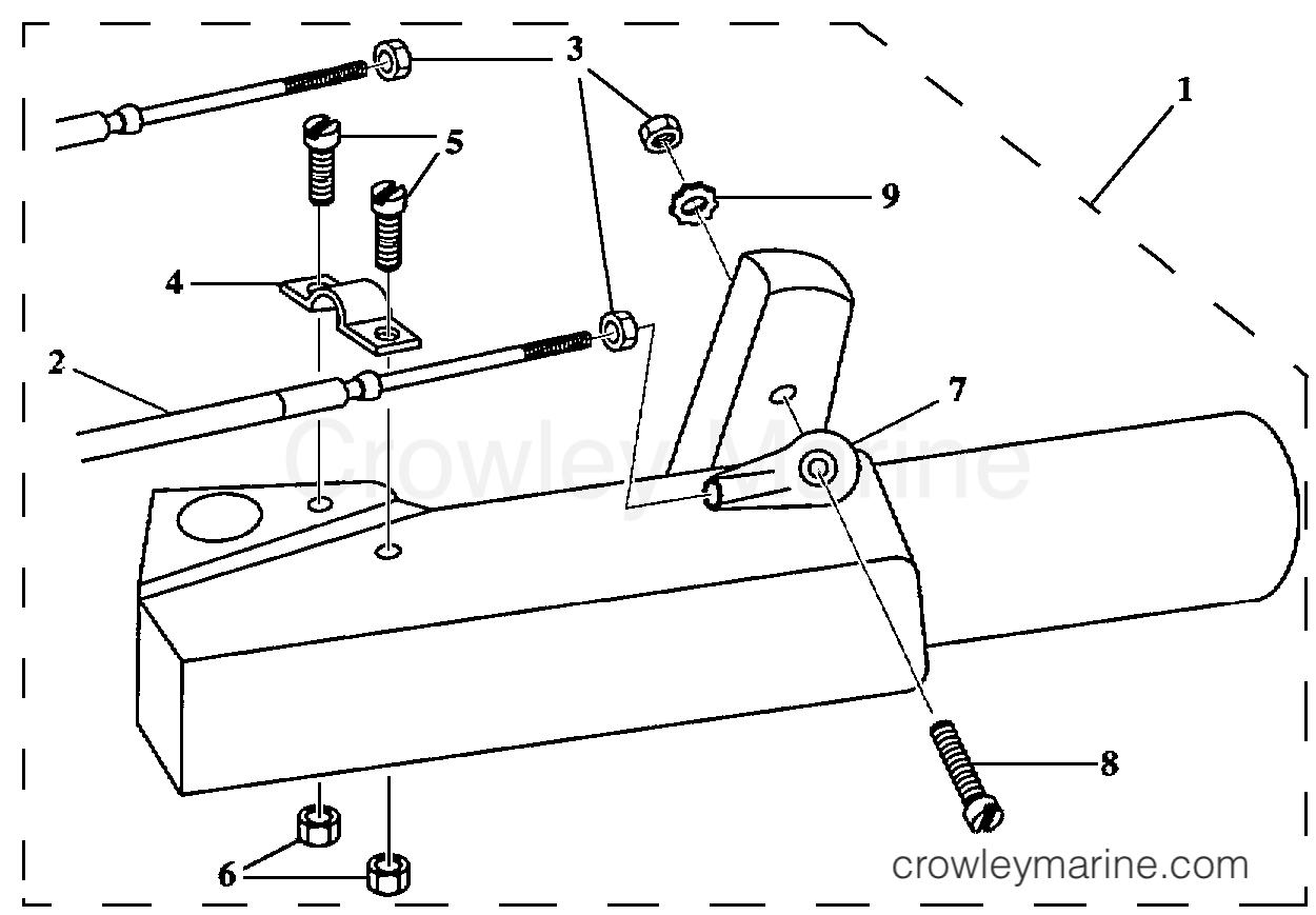 Tiller Steering Shift Cable F50 Port