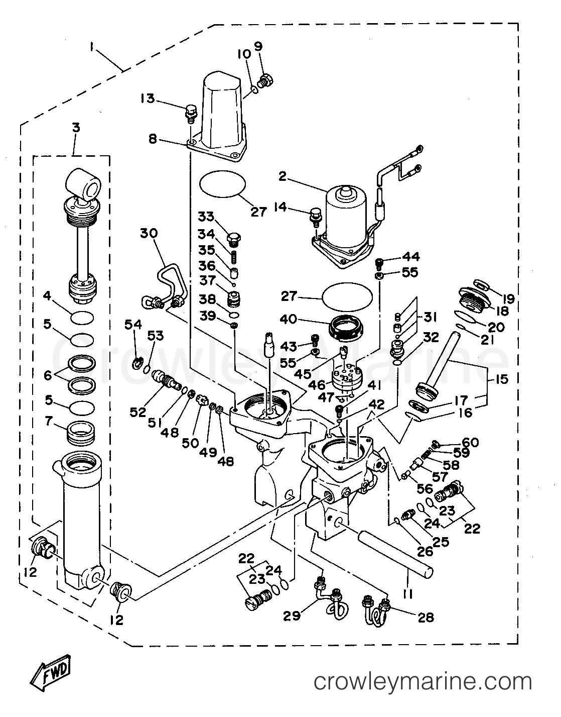 Power Trim Tilt Assembly 2 40tr