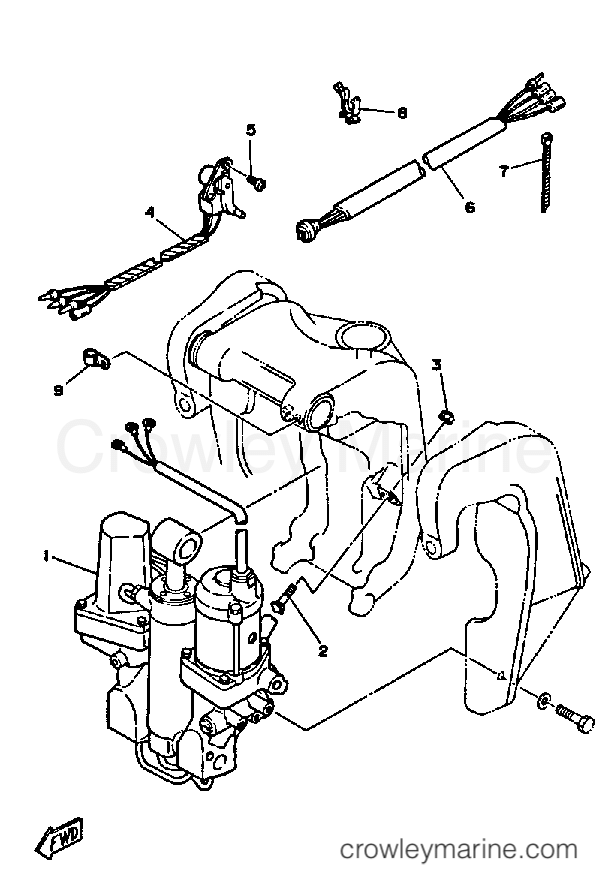 P75tlhu Yamaha Outboard Power Trim Tilt Assembly 1 Diagram And Parts