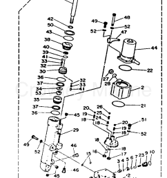 1993 yamaha outboard 40hp 40plrr power trim tilt assy section [ 853 x 1291 Pixel ]