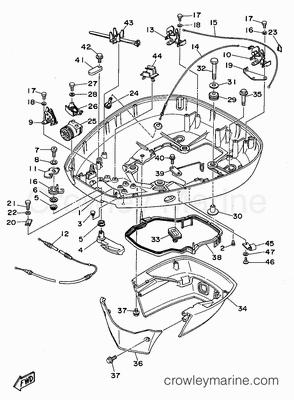Yamaha 150 Outboard Lower Unit Parts Diagram Mercury 150