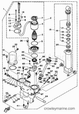 Evinrude Tilt And Trim Diagrams Evinrude 48 SPL Diagram