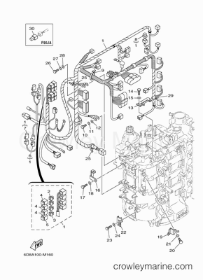 90 Hp Yamaha Outboard Parts Diagram Outboard Boat Motor