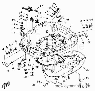 Engine Diagram 1987 Evinrude Prop Chevrolet Engine Diagram