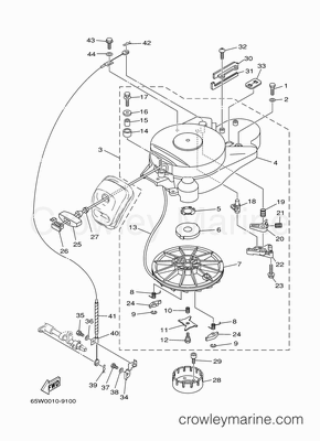 2001 Yamaha Outboard 25hp [F25MSHZ]  Parts Lookup  Crowley Marine
