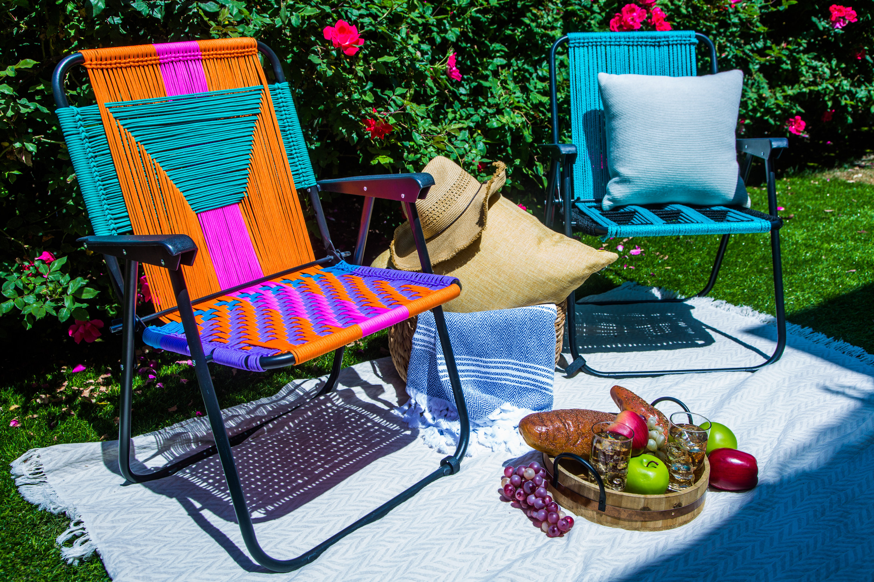 Woven Lawn Chair How To Diy Macrame Lawn Chairs Hallmark Channel