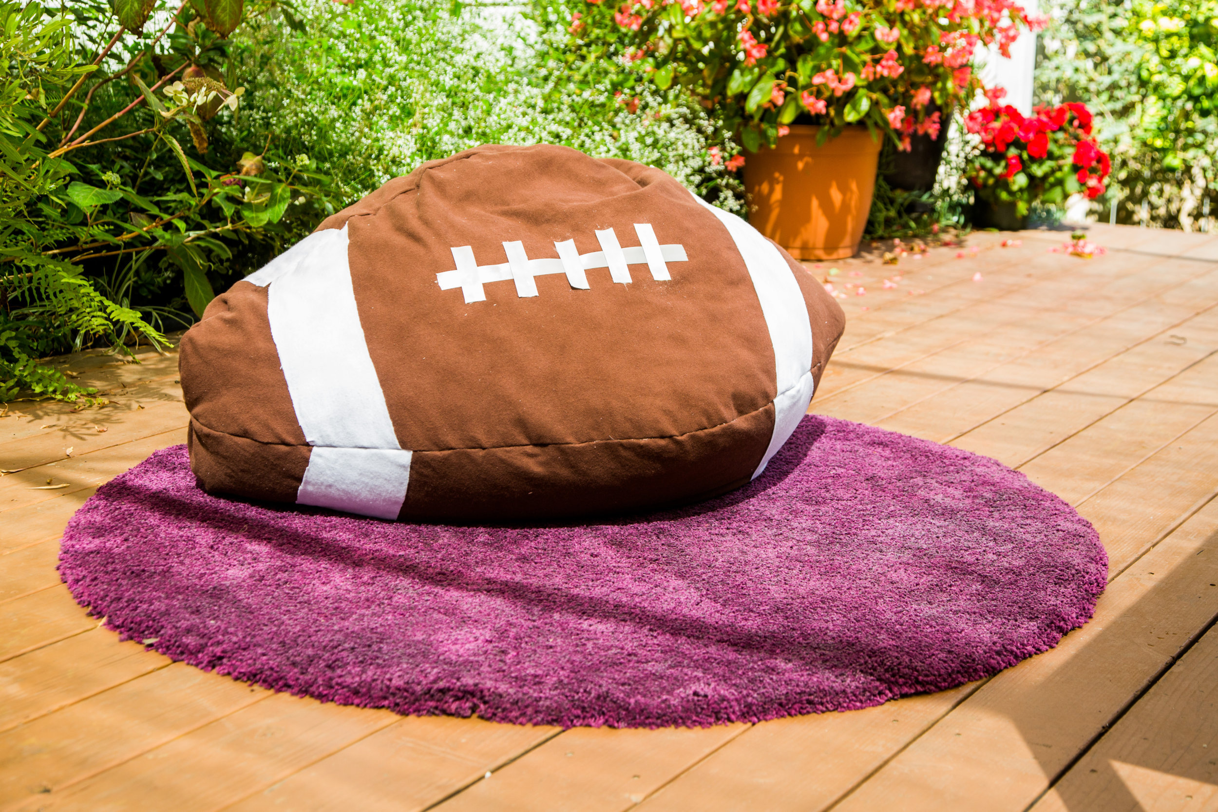 football bean bag chair swing with stand canada diy