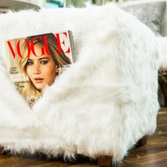 Faux Fur Chair Cover Revolving Pakistan How To Diy And Ottoman Home Family