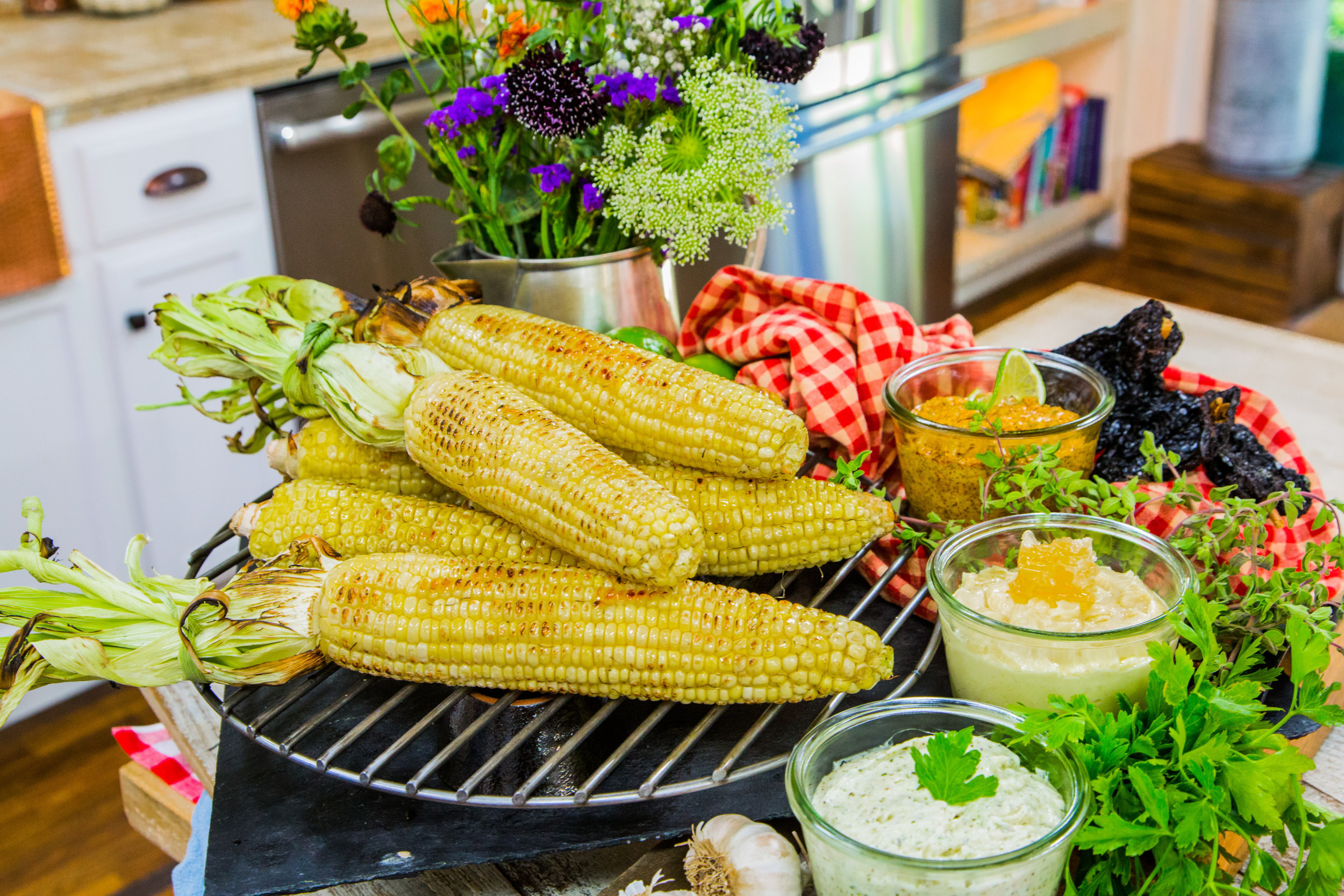 grilled corn compound butters