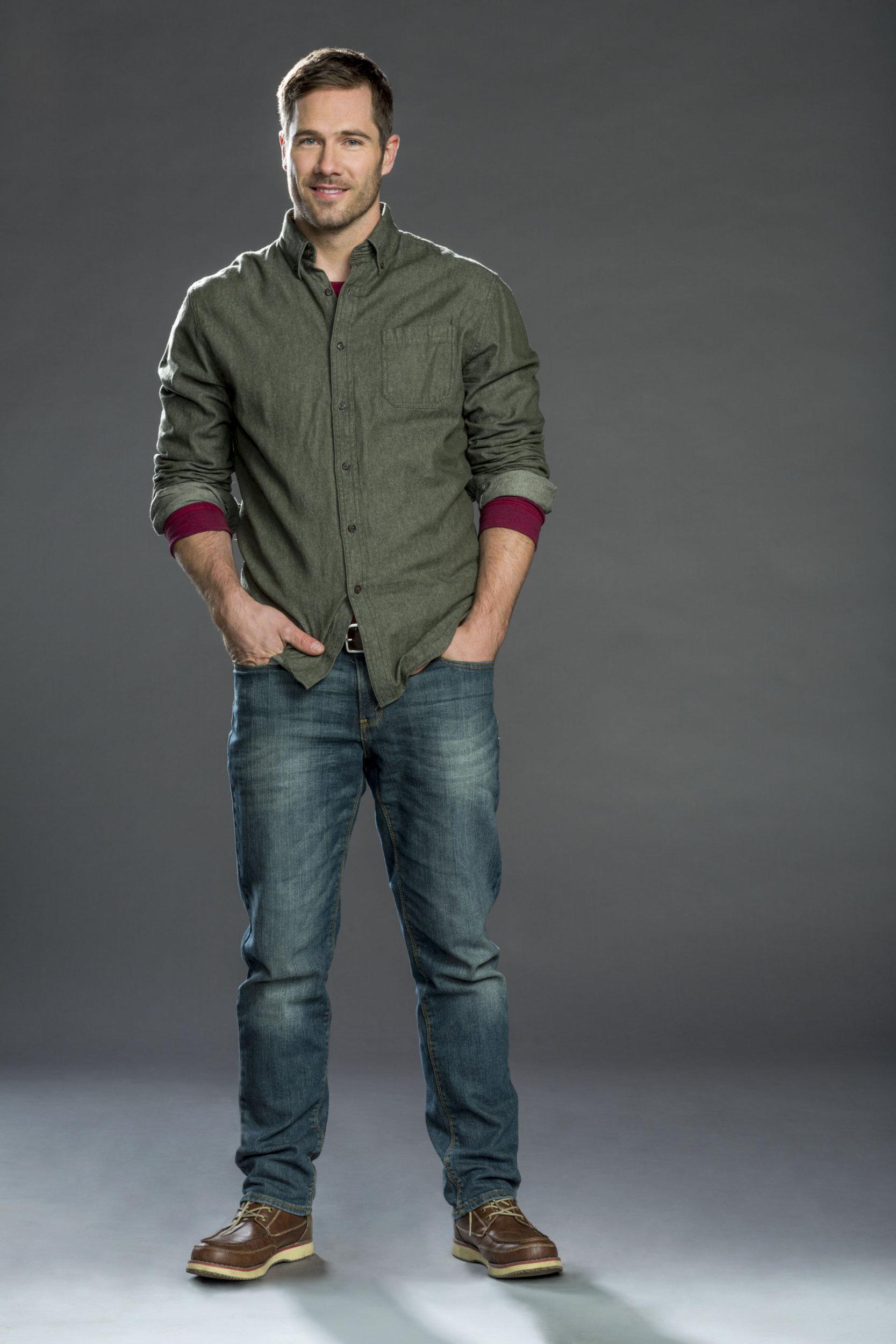 Luke Macfarlane as Tucker Martin on Christmas Land  Hallmark Channel