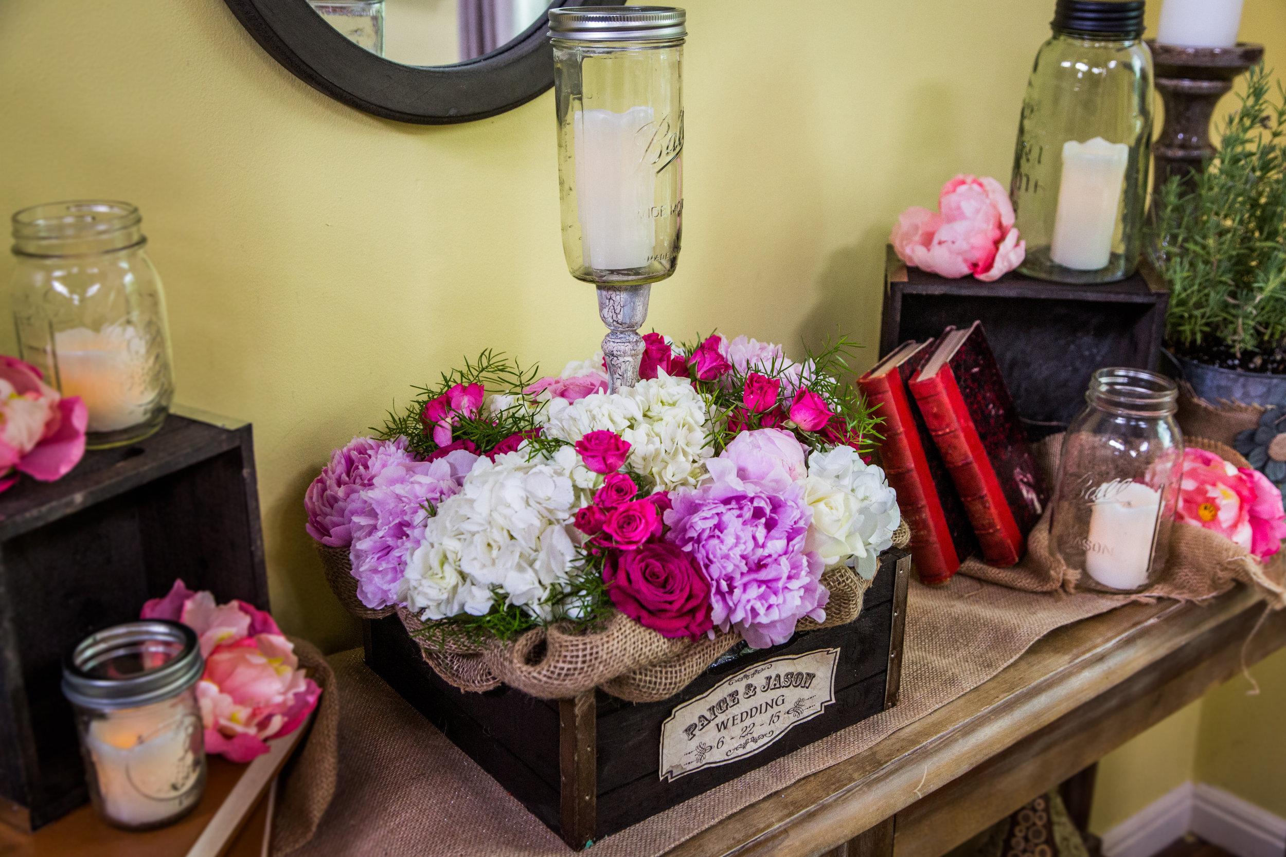 Paige's DIY Flower Wedding Centerpieces