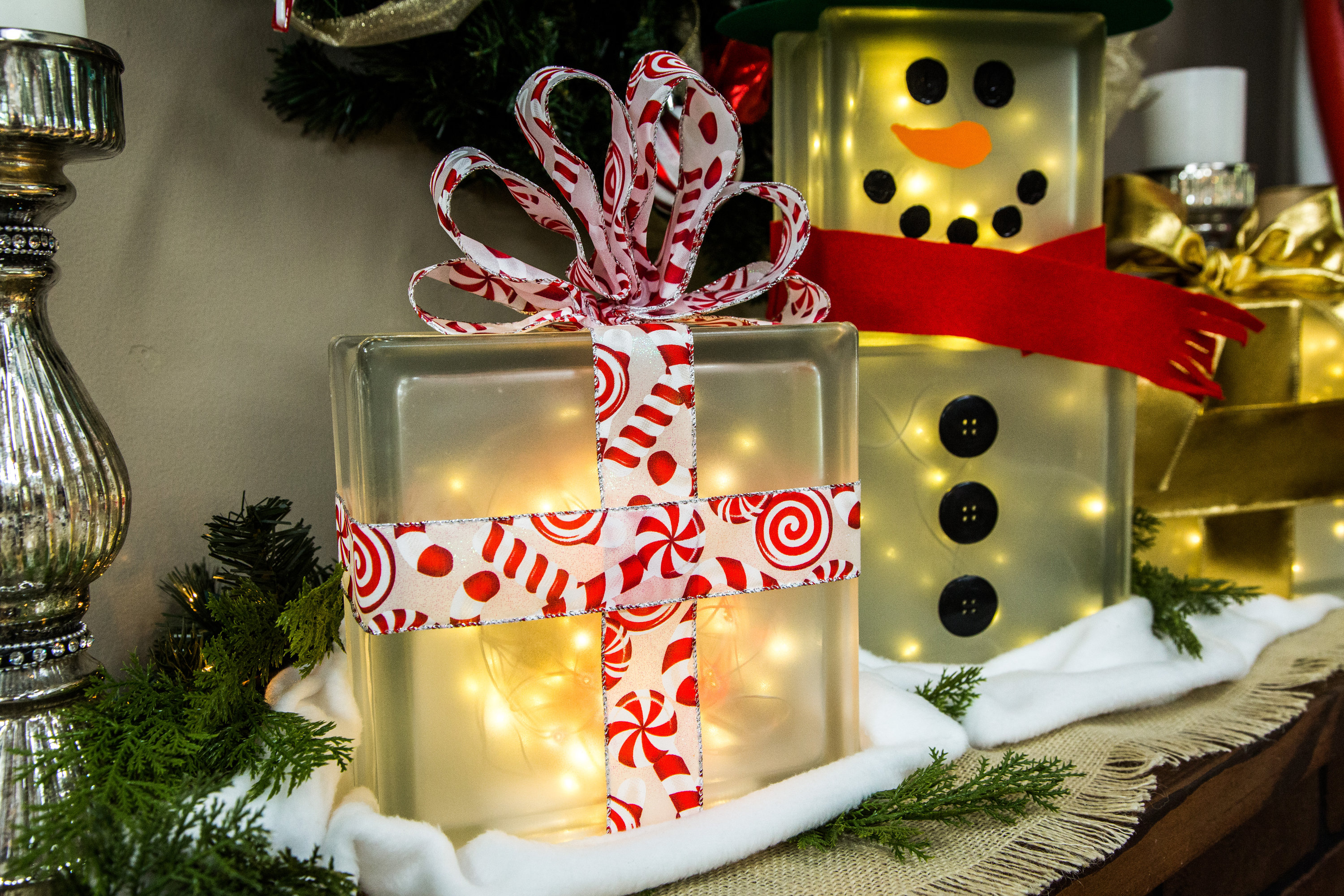 How To  DIY Lighted Glass Box Snowman  Hallmark Channel