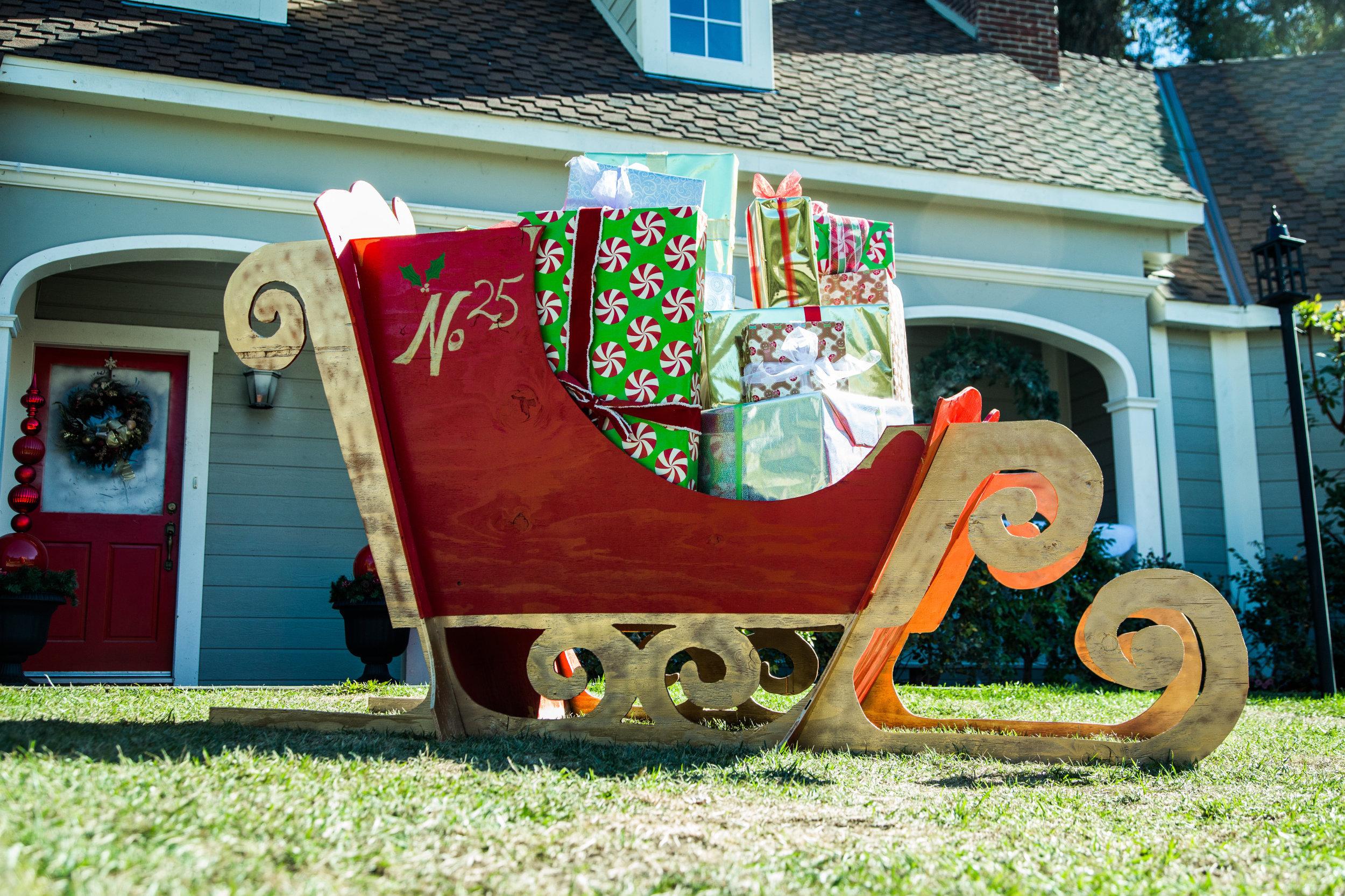 How To DIY Santa Sleigh Home Amp Family Hallmark Channel