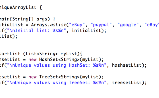 Java How To Find Unique Values In Arraylist Using