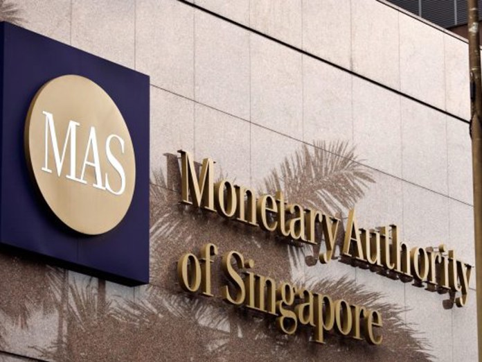 The Monetary Authority of Singapore headquarters in downtown Singapore. The central bank as well as financial regulator has taken an enlightened approach to managing cryptocurrencies and ICOs in the global financial center.