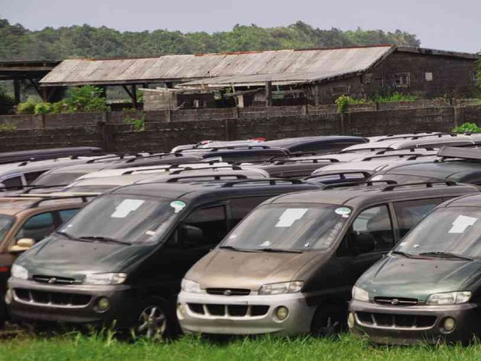 Cars rusting at the free trade zone in Cagayan, Philippines, victims of sea water and mismanagement.