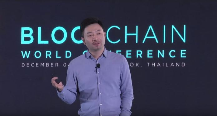 NEO founder Da Hongfei is also co-founder of Ontology, seen here speaking at the Blockchain World Conference in Bangkok, Thailand last year.