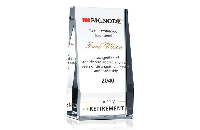 Crystal Wedge Retirement Gifts