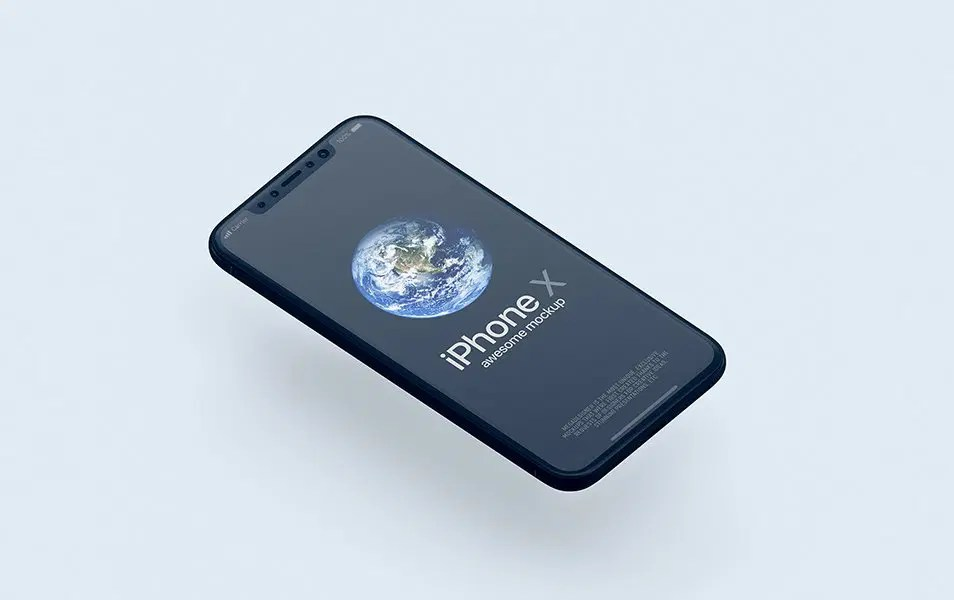 solid iPhone X Mockup