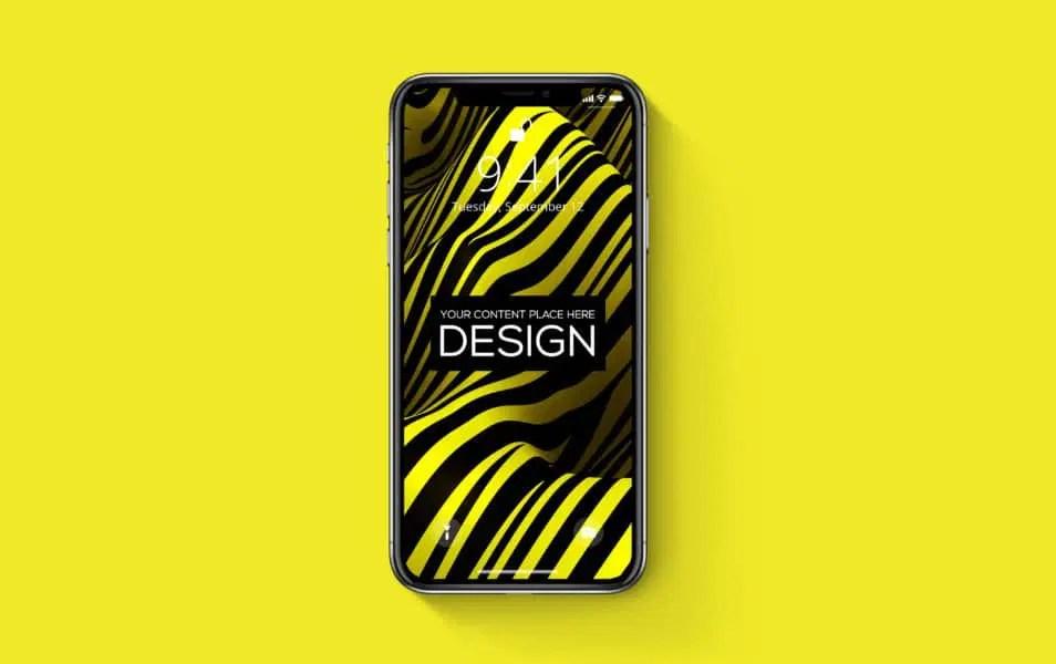 iPhone-X Realistic PSD Mockup Freebie