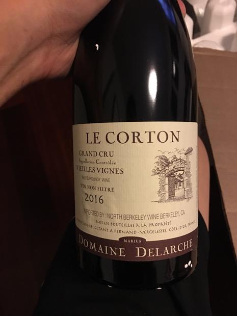 2016 Domaine Marius Delarche Corton Le Corton Vieilles