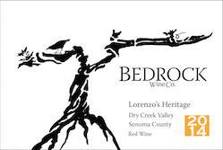 2014 Bedrock Wine Co. Lorenzo's Heritage, USA, California