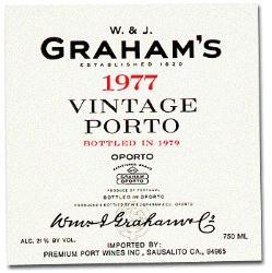 1977 Graham Porto Vintage, Portugal, Douro, Porto