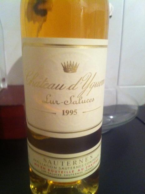 1995 Château d'Yquem. France. Bordeaux. Sauternais. Sauternes - CellarTracker